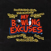 My Bowling Excuses T-Shirt Black