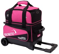 Ebonite Transport Single Roller Black/Pink Bowling Bags