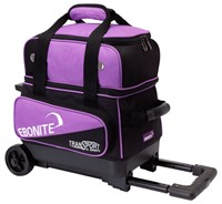 Ebonite Transport Single Roller Black/Purple Bowling Bags