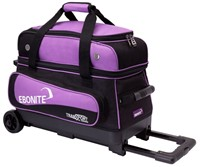 Ebonite Transport Double Roller Black/Purple Bowling Bags