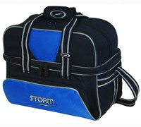 Storm 2 Ball Deluxe Tote Black/Royal Bowling Bags