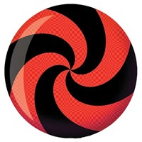 Brunswick Spiral Red/Black Glow Viz-A-Ball