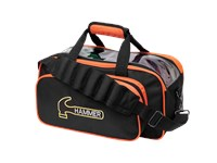Hammer Double Tote Black/Orange Bowling Bags