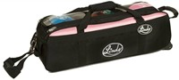 Linds Triple Tote Roller Black/Pink