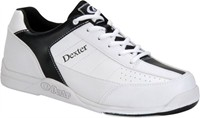 Dexter Mens Ricky III White/Black WIDE WIDTH Bowling Shoes
