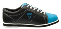 BSI Womens Classic Black/Electric Blue Bowling Shoes