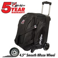 KR Cruiser Smooth Double Roller Black Bowling Bags