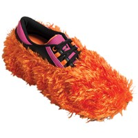 Brunswick Fun Shoe Covers Fuzzy Orange