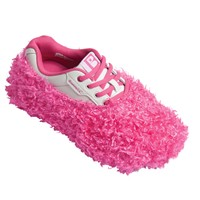 Brunswick Fun Shoe Covers Fuzzy Pink