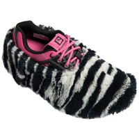 Brunswick Fun Shoe Covers Fuzzy Zebra