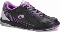 Storm Womens Windy Black/Violet Bowling Shoes
