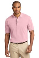 Port Authority Mens Pique Knit Sport Light Pink
