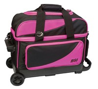 BSI Prestige Double Ball Roller Pink/Black Bowling Bags