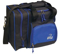 BSI Deluxe Single Tote Black/Blue Bowling Bags