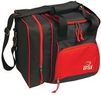 BSI Deluxe Single Tote Black/Red Bowling Bags