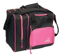 BSI Deluxe Single Tote Black/Pink Bowling Bags