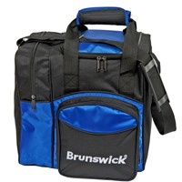 Brunswick Plus Single Tote Royal/Black Bowling Bags