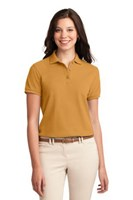 Port Authority Womens Silk Touch Polo Shirt Gold