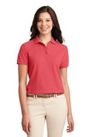 Port Authority Womens Silk Touch Polo Shirt Hibiscus