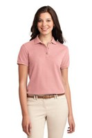 Port Authority Womens Silk Touch Polo Shirt Light Pink