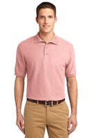 Port Authority Mens Silk Touch Polo Shirt Light Pink