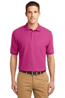 Port Authority Mens Silk Touch Polo Shirt Tropical Pink