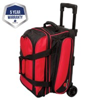 Ebonite Transport II Double Roller Red Bowling Bags