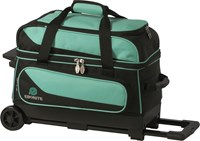 Ebonite Transport II Double Roller Teal Bowling Bags