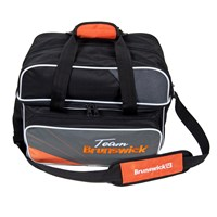 Brunswick Team Brunswick Deluxe Double Tote Slate/Orange Bowling Bags