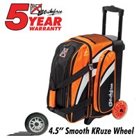 KR Cruiser Smooth Double Roller Orange/White/Black Bowling Bags