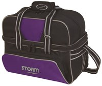 Storm 2 Ball Deluxe Tote Black/Purple Bowling Bags