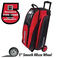 Brunswick Razor Triple Roller Black/Red Bowling Bags