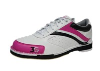 3G Womens Classic Pro White/Pink/Black Left Hand Bowling Shoes