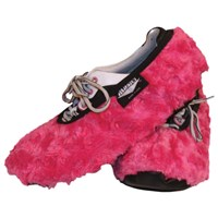 Master Ladies Shoe Covers Fuzzy Fuchsia