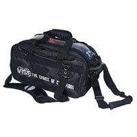 "VISE 2 Ball ""Clear Top"" Tote Roller Black Bowling Bags"