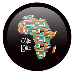 OnTheBallBowling African Flag One Love Back Image