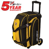 KR Kolors 2 Ball Roller Yellow Bowling Bags