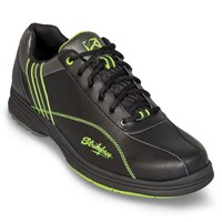 KR Strikeforce Mens Raptor Black/Lime Right Hand Wide Width Bowling Shoes