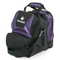Brunswick Crown Single Tote Purple Bowling Bags