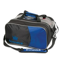 Brunswick Crown Double Tote Royal With Pouch Bowling Bags