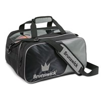 Brunswick Crown Double Tote Silver With Pouch Bowling Bags