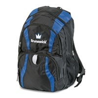 Brunswick Crown Backpack Royal/Black Bowling Bags