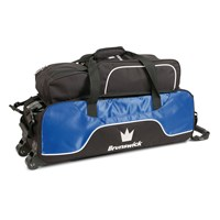 Brunswick Crown Triple Tote Royal With Pouch Bowling Bags