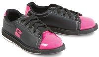 Brunswick TZone Womens Black/Pink Bowling Shoes