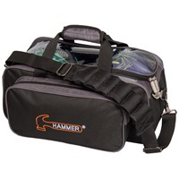 Hammer Double Tote Black/Carbon Bowling Bags