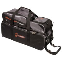 Hammer Triple Tote w/Removable Pouch Black/Carbon Bowling Bags