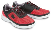 Brunswick Mens Frenzy Black/Red Bowling Shoes