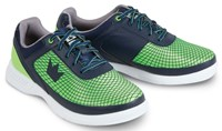 Brunswick Mens Frenzy Navy/Green Bowling Shoes