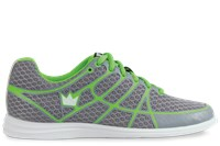 Brunswick Womens Aura Grey/Green Bowling Shoes