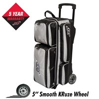 Columbia Icon 3 Ball Roller Silver Bowling Bags